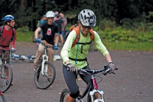 Riders get ready to roll out at the NWTA Trailfest ride.  Photo by NW Trail Alliance