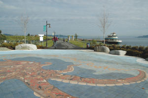 Smell the fresh marine air as you ride the Point Ruston Trail in Tacoma. Photo by Bill Thorness
