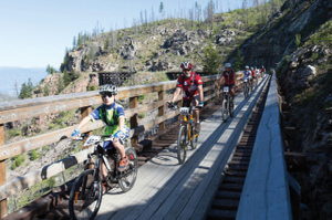 The conversion of the abandoned railway has created access to the heart of the Okanagan Valley.