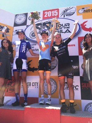 Jasmin Glaesser takes third on the opening stage of Tour of the Gila 2015.  Photo by Patrick McCarty