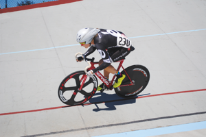 An unknown entity, Georgia Simmerling left quite an impression in Portland by establishing a new record time in the Individual Pursuit and making podium appearances in all six events she entered to claim the Omnium. Photo courtesy of Kathryn Ragsdale