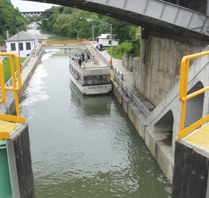 One of the many locks encountered on the route. Photo courtesy of Peter J. Marsh