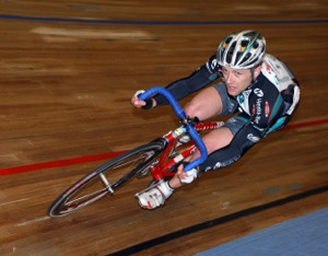 Kirk O'Bee on the velodrome. Photo by Greg Descantes