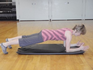 The plank.  Photo courtesy of Sylvie Allen, PT and MTB Coach