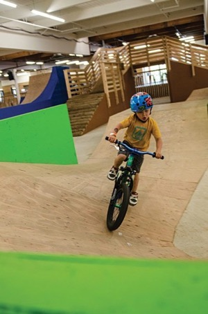Little dude shredding on a little bike. Photo courtesy of Lumberyard