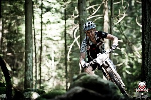 Aaron Ellwel of Twin Six found a few smiles during the second day on the Sunshine Coast. Photo by BC Bike Race