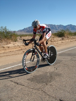 Michael Emde in the desert.  Photo courtesy of Chris Kostman