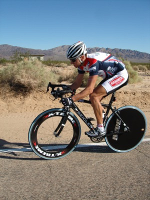 Osteoporosis can affect both men and women. Ultra cyclist Michael Emde found that out after a bone screening revealed that his spine was twice his age.  Photo courtesy of Chris Kostman