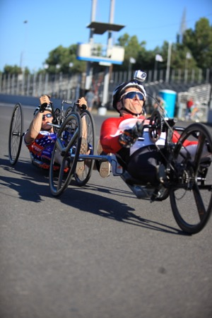 Handcycling is a recognized Paralympic sport. Photo courtesy of Alex Brock of Lil©Photography