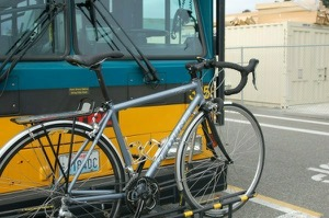 Bike racks have been installed on all city buses in the Northwest.  Photo by Bicycle Paper